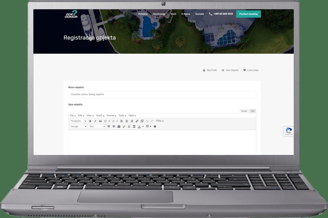 registracija objekta gdenaodmor.rs